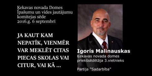 Igoris Malinauskas: ja kādam kaut kas nepatīk, var meklēt citas skolas
