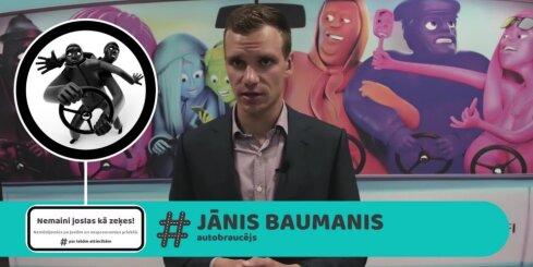 Autosportists Jānis Baumanis par labām attiecībām uz ceļa