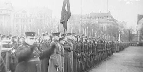 Arhīva video: Valsts svētku svinības 1925. gada