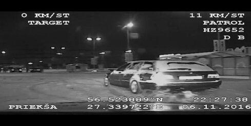 Rēzeknē policija aiztur agresīvu drifteri