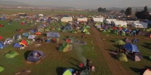 Bēgļu nometne pie Grieķijas-Maķedonijas robežas