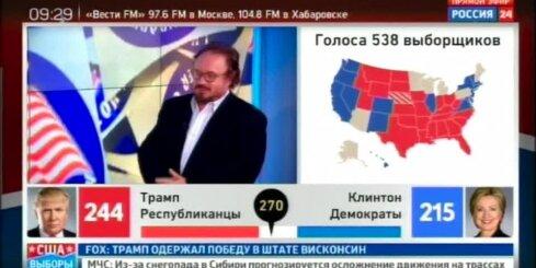 Krievijas mediji svin Trampa uzvaru