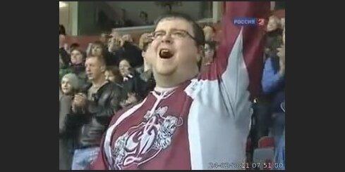 Krievijas TV par Rīgas 'Dinamo' faniem