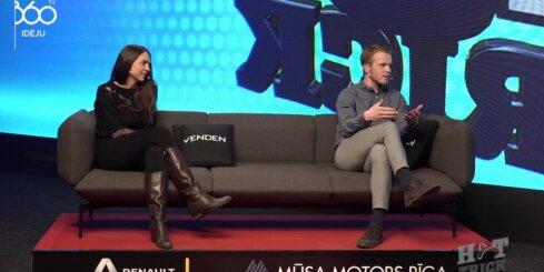 Šorttrekists Roberto Puķītis aci pret aci tiekas ar treneri Evitu Krievāni
