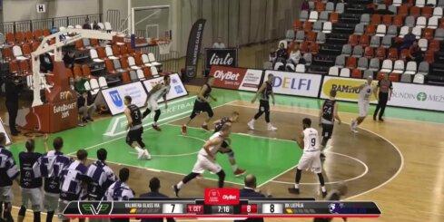 'OlyBet' basketbola līga: 'Valmiera glass/Via' - 'Liepāja'. Spēles labākie momenti (22.12.2018.)