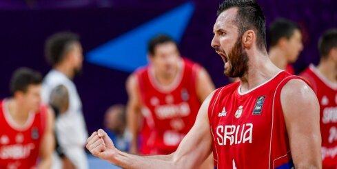 Serbijas izlase pārliecinoši sasniedz 'Eurobasket 2017' pusfinālu