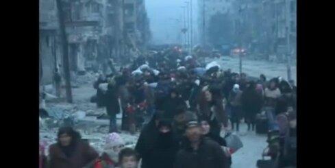 Panākta vienošanās par opozīcijas kaujinieku evakuāciju no Alepo