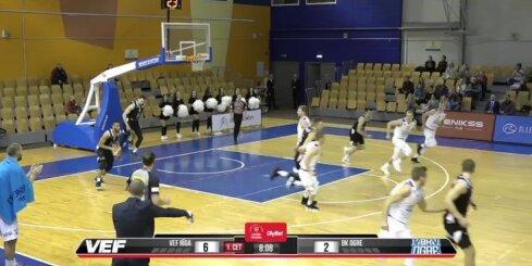 'OlyBet' basketbola līga: 'VEF Rīga' - 'Ogre'. Spēles labākie momenti