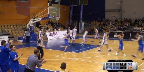 'Aldaris Latvijas Basketbola Līga' - 'Latvijas Universitāte' - 'BK Saldus' spēles labākie momenti