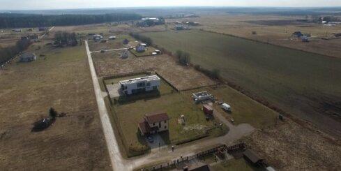 Video no putna lidojuma: Dzelzceļa infrastruktūras līnija 'Rail Baltica' Mārupes nomalē