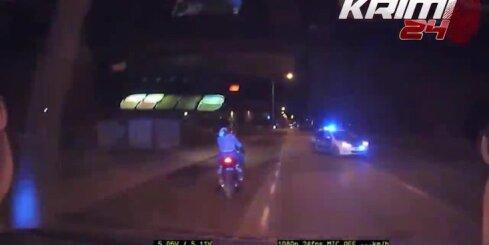 Tallinā motociklists ar pasažieri traucas ar 200 km/h lielu ātrumu
