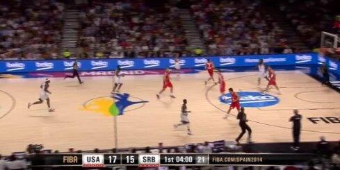 ASV basketbolisti 'sabradā' Serbiju un triumfē Pasaules kausā