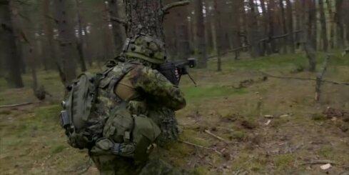 'Saber Strike' militārās mācībās Ādažos