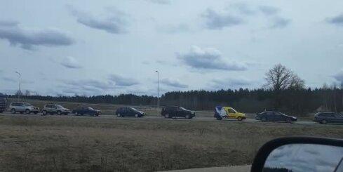 Milzu sastrēgums pie Valmieras