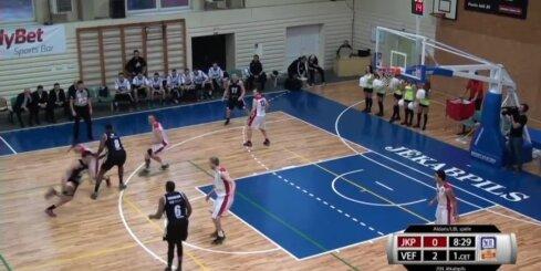 'Aldaris Latvijas Basketbola Līga' - 'VEF Rīga' - 'BK Jēkabpils' - spēles labākie momenti