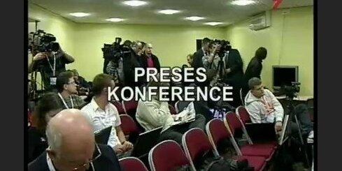 Preses konference pēc Rīgas