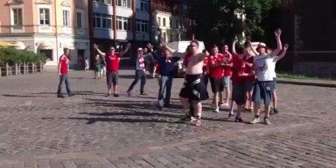 Futbola kluba 'Aberdeen' fani Rīgā