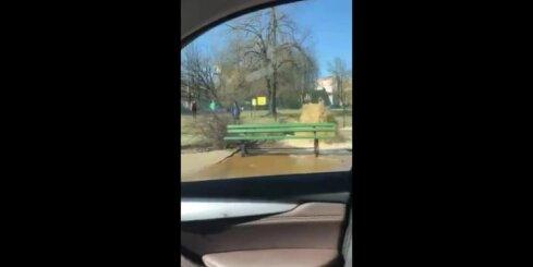 Ūdensvada avārija Pētersalas ielā