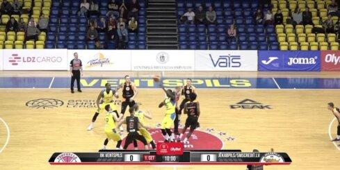 'OlyBet' basketbola līga: 'Ventspils' - 'Jēkabpils/SMScredit.lv'. Pilns ieraksts