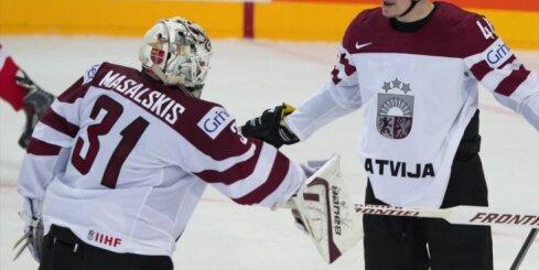 Masaļskis sargās Latvijas vārtus cīņā pret Vāciju; Džeriņam 100. spēle