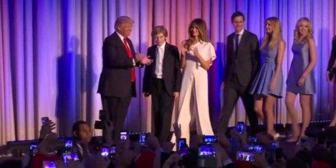 Trampa uzruna pēc uzvaras ASV prezidenta vēlēšanās