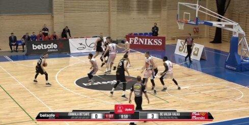 'OlyBet' basketbola līga: 'Betsafe/Jūrmala' - 'Valga-Valka/Maks&Moorits'. Spēles labākie momenti