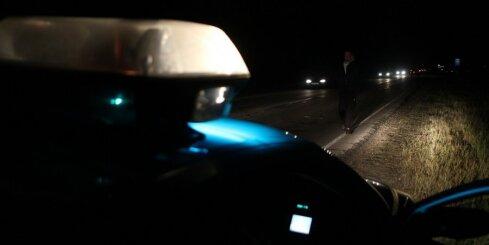 Negaidīta sadursme ar policijas auto Krasta ielā