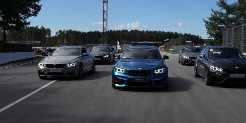 Sportisko 'BMW M' automobiļu dienas Biķernieku trasē