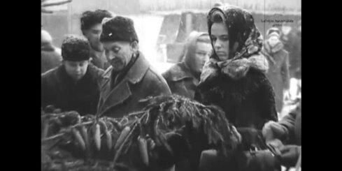 Arhīva video: Rīga Jaungada priekšvakarā, 1966. gads