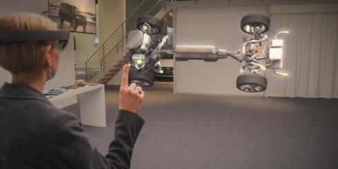 'Volvo' auto komplektēšana 'Microsoft' virtuālajās brilēs