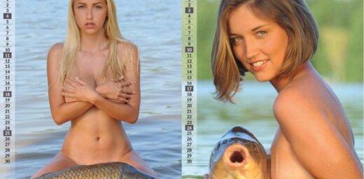 Foto: Tapis, iespējams, gada ērmīgākais erotiskais kalendārs
