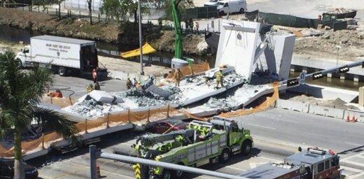 В Майами на машины обвалился строящийся мост, есть жертвы