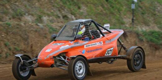 Justs Grencis izcīna otro vietu Eiropas autokrosa čempionāta posmā 'JuniorBuggy' klasē