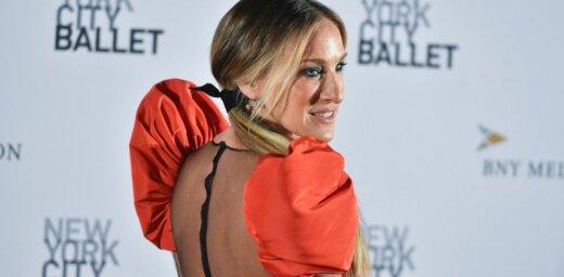 Sāra Džesika Pārkere nodemonstrē pompozas elegances paraugstundu