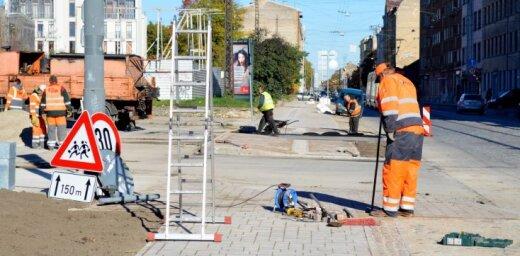 Рига: ни одна из отремонтированных летом улиц еще не сдана в эксплуатацию