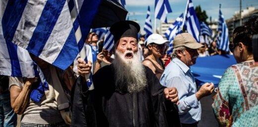 Grieķijā protestē pret vienošanos ar Maķedoniju