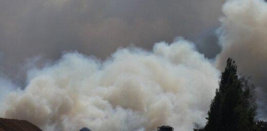 ФОТО: Уже три дня не удается остановить лесной пожар в Талсинском крае