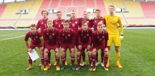Latvijas U-19 futbola izlase EČ kvalifikācijas turnīra elites kārtas mačā piekāpjas Anglijai