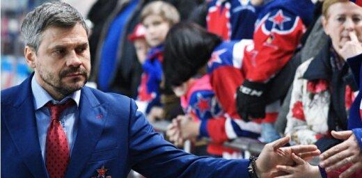 KHL regulārās sezonas uzvarētāji CSKA atlaiž galveno treneri Kvartaļnovu