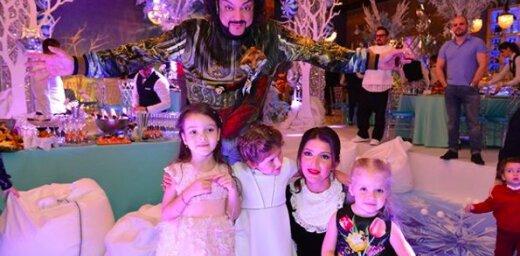 Smalkākā bērnu ballīte Krievijā: Kirkorovs iepriecina meitiņu