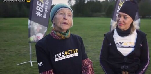 Video: Seniori #BeActive ietvaros aizvada atklāto treniņu Sabilē