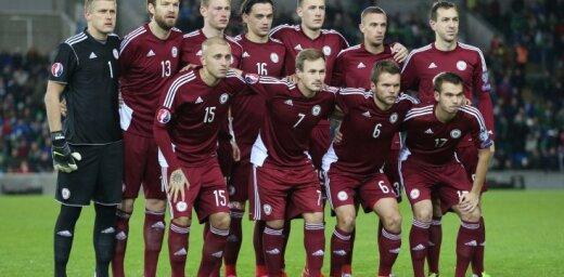Сборная Латвии в рейтинге ФИФА оказалась в одном ряду с Намибией и Бурунди