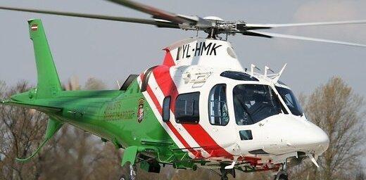 Заблудившуюся на болоте женщину удалось найти с помощью вертолета