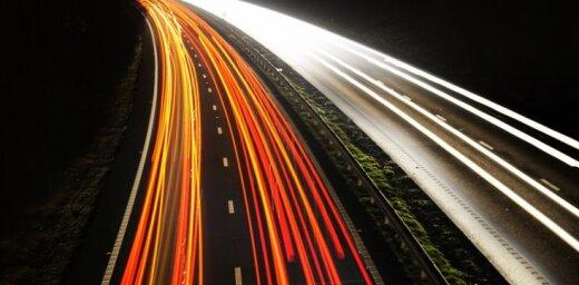 ВИДЕО: Полиция остановила лихача, гнавшего по дороге на 180 км/ч