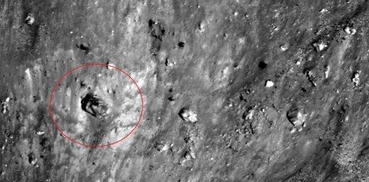 Mēness virsmas foto saskatīts kaut kas ļoti neparasts