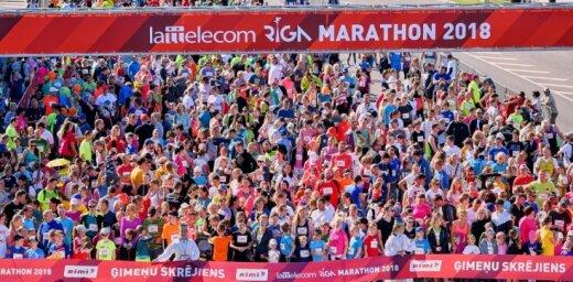 Sākas 'Lattelecom' Rīgas maratons; reģistrējušies 37645 dalībnieki no 78 valstīm