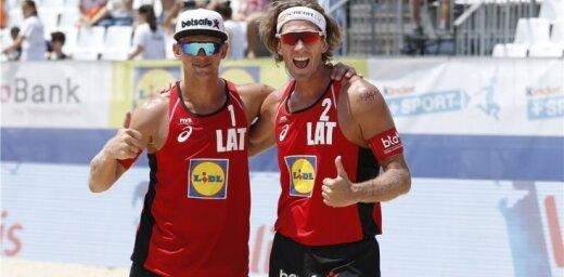 Волейболисты Самойлов и Шмединьш выиграли четырехзвездный этап Кубка мира в Португалии
