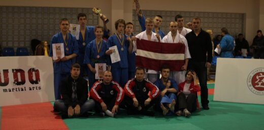Latvijas sportisti Lietuvas Kudo čempionātā iegūst astoņas medaļas