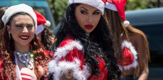Karstās čīliešu Ziemassvētku rūķenītes centrāltirgū