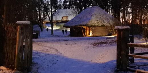 ФОТО ЧИТАТЕЛЯ: Вечерние прогулки по заснеженному Этнографическому музею